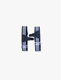 Black / White Striped Sock Garter
