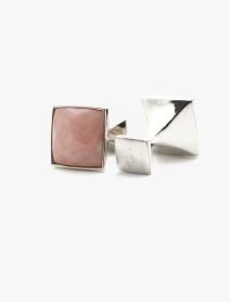 Pink Opal Square Cut Stone