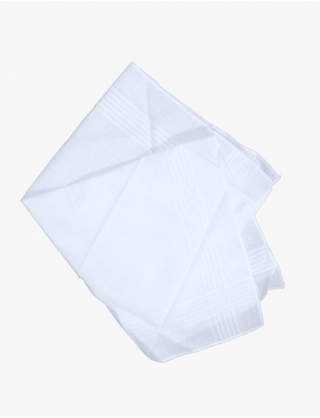 6 Handkerchiefs -100% Cotton 17 x 17