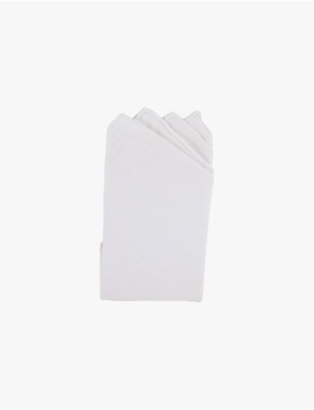 White Pure Linen Pre-folded