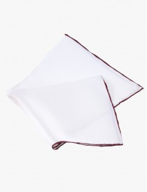 White w/Wine-Edge Silk Handrolled