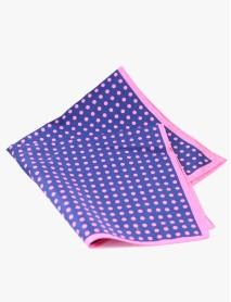 Light Blue/Pink Polkadot