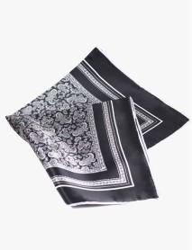 Black/Grey/White Paisley